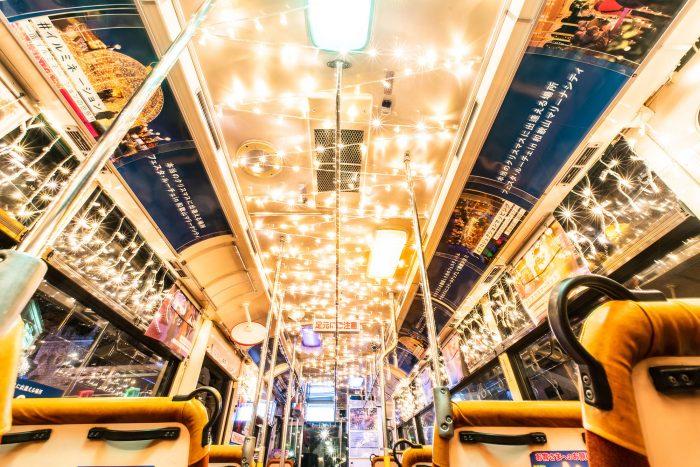 「フェスタ・ルーチェ」イルミネーションバス運行中