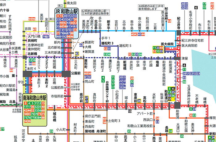 和歌山バス 運行系統図